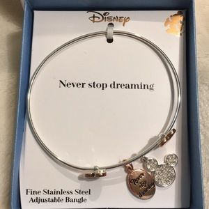 Disney's never stop dreaming bangle